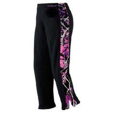 Girls Yoga Sweat Pants Exercise Running Walking Black Muddy Girl Camo Edge MED