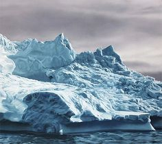Icebergs - this was painted with a finger! / Zaria Forman