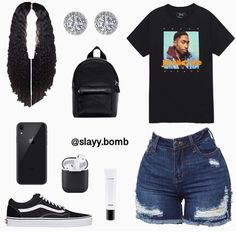 baddie gym outfits - Biker shorts outfit - - New Ideas Swag Outfits For Girls, Teenage Girl Outfits, Cute Swag Outfits, Chill Outfits, Teenager Outfits, Teen Fashion Outfits, Dope Outfits, Cute Outfits For School, Gym Outfits