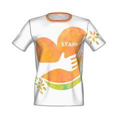 各種イベントや展示会、ユニフォームに◎/ハートフルSTAFF Tシャツ - CHIARA