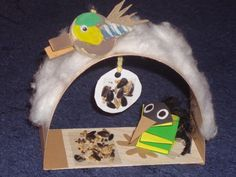 Feeding Birds In Winter, Winter Project, Bird Crafts, Paper Crafts For Kids, Bird Feeders, Projects To Try, Fun, Christmas, Winter Time
