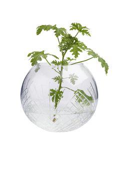 Fyll vasen med dine favorittblomster og du får et smykke til hjemmet ditt. Materiale: Glass. Størrelse: Liten ø 10 cm. Mellom ø 20 cm. Stor ø 30 cm. Beskrivelse: Rund vase i slipt glass i ulike størrelser. Tips & Råd: Kan også brukes som lyslykt.