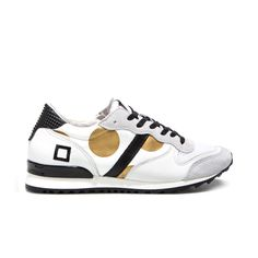 D.A.T.E. Fall Winter 2015-16 // Boston Pop Big Pois Gold. Shop at:http://bit.ly/1LFn3c7 #datesneakers