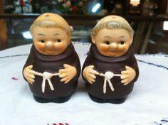 Vintage Friar Tuck W. Germany Salt & Pepper Shakers