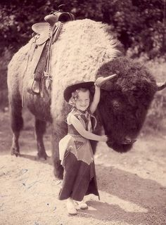The luckiest little girl of the west!