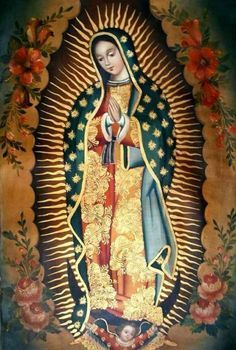Religious Images, Religious Icons, Religious Art, Blessed Mother Mary, Blessed Virgin Mary, Virgin Mary Art, Mama Mary, Holy Mary, Chicano Art