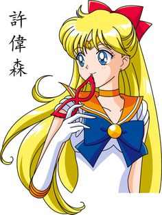 Sailor Venus Face Anime Style by xuweisen