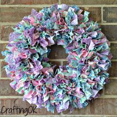 perfect baby shower gift this rag wreath measures approximately 17 in diameter and is loaded