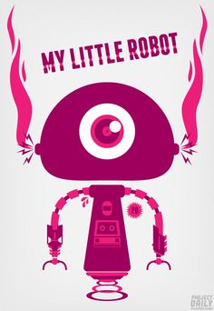 My Little Robot vector character illustration by Project Daily