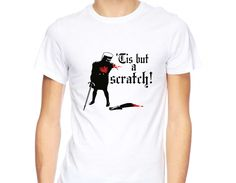 Tis but a Scratch Monty Python Holy Grail Black Knight joke retro Funny T-Shirt
