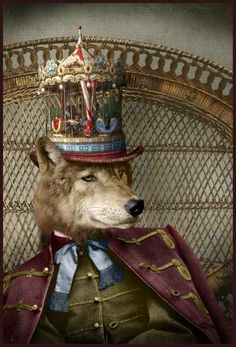 My name is Adrian Higgins and I am an artist based in Hereford. Steampunk Circus, Steampunk Animals, Art Antique, Animal Heads, Cultura Pop, Dog Portraits, Whimsical Art, Surreal Art, Collage Art