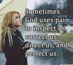 Pain has a purpose. Not to leave you broken-hearted, discouraged, or hopeless but to bring you to your knees, help you trust in God, and come out stronger, braver, and more mature on the other side. The circumstance the enemy wants to use to cause you harm and bring you down God will turn around and use to draw you nearer to Him, grow your character, and lift you up as you overcome with Him by your side. God can bring beauty and growth out of your most broken seasons. Trust Him.