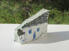 Handbemalte Steine OOAK gemalte Felsen griechische von IkarianArt
