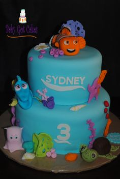 Finding Nemo - Finding Nemo two tier 6 & 8, covered in fondant with fondant accents.  Characters are made from fondant.  Thanks for looking!