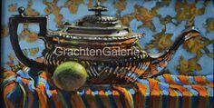 Jannies theepot | Keimpe van der Kooi | Stilleven | Schilderij