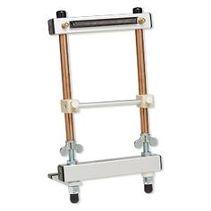 Beading loom, Mirrix, aluminum / steel / copper / wood, 8 inches. Sold individually.