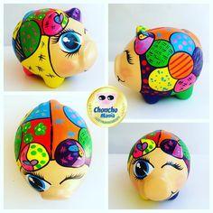 Consulta esta foto de Instagram de @choncho_mania • 50 Me gusta Paper Mache Paste, Paper Mache Crafts, Piggy Banks, Flying Pig, Gourds, Ceramics, Instagram, Ideas, Teacup Pigs