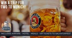Win a Trip to Munich for 2 (airfare, hotel, meals & festival tickets) – from the Nashville Oktoberfest & Paulaner!