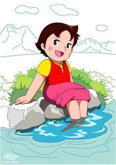 heidi playing in water http://heidicartoon.blogspot.in