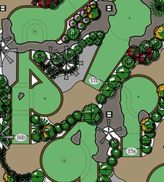 Castle Golf designs & builds mini golf courses.  Website gives a lot of info and pictures on design process.