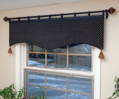 Tab Top Window Valance - Maybe for the kids ocean themed bathroom with a few alterations?