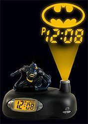 Batman Projection Alarm Clock - Braxten could wake up fighting crime every morning instead of just a couple days a week.