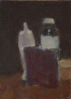 Robert D'Arista Paintings 1976. Still life. Oil on linen on wood, 8 x 5.5 in., 1975.