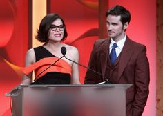 Actors Lana Parrilla (L) and Colin O'Donoghue speak onstage during The Trevor Project's 2016 TrevorLIVE LA at The Beverly Hilton Hotel on December 4, 2016 in Beverly Hills, California.