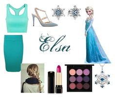 """""""Elsa Closet Cosplay"""" by thecrystalheart on Polyvore featuring WearAll, Valentino, Pandora, Lancôme and MAC Cosmetics"""