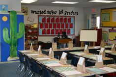 """transform the classroom into the west. perfect for a """"wild wild west"""" thematic unit"""