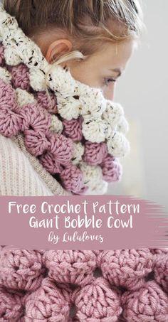 Free Crochet Pattern - Giant Bobble Cowl | Lululoves Crochet Blog
