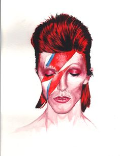 My daughter's artwork...David Bowie.
