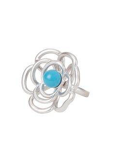 LONDON RING TURQUOISE SILVER, BP FINISH SIZE 6