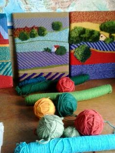 Twill tapestry is a terrific way to create interesting graphic tapestrys. Yes you can do this on your rigid heddle loom!  Pinned from #Weaving s by cordelia
