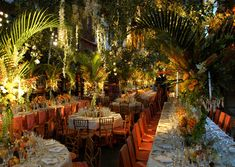 Garden of Eden themed reception by the amazing David Tutera. These are not my colors but my wedding is in a garden, hence the Garden of Eden theme. Wedding Reception Design, Wedding Events, Our Wedding, Dream Wedding, Wedding Stuff, Destination Wedding, Garden Of Eden, Garden Theme, Rainforest Theme