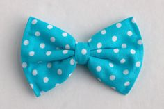 Boys Bow Tie Turquoise Blue Polka Dot Newborn by lollyludesigns, $6.95