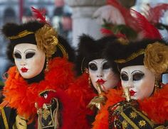 A group of people dressed in costume poses in Saint Mark's Square during the Venice Carnival 2013 on Feb. 4, 2013 in Venice, Italy. The 2013 Carnival of Venice runs from Jan. 26 - Feb. 12 and includes a program of gala dinners, parades, dances, masked balls and music events. (Marco Secchi/Getty Images)