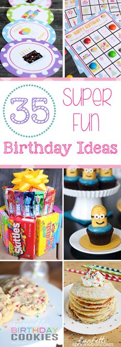 Fun Ideas for Birthdays! Games, treats, printable cards and more!