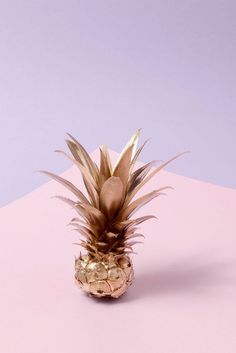 we are in love with this spray painted pineapple.