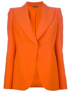 Shop Women's Alexander McQueen Casual jackets on Lyst. Track over 1044 Alexander McQueen Casual jackets for stock and sale updates. Orange Blazer Outfits, Couture Coats, Alexander Mcqueen, Evan, Tailored Jacket, Blazer Jacket, Fashion Articles, Blazer Buttons, Blazers For Women