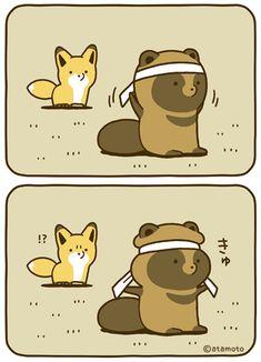 Kawaii Chibi, Kawaii Cute, Kawaii Anime, Kawaii Drawings, Cute Drawings, Anime Animals, Cute Animals, Animal Doodles, Fox Illustration