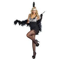Sexy Jazz Diva Flapper Girl Women's Halloween Party Costume – USD $ 29.99