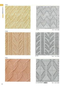 Lace Knitting Stitches, Beginner Knitting Patterns, Cable Knitting, Knitting Charts, Knitting Projects, Lace Patterns, Stitch Patterns, How To Purl Knit, Pattern Books