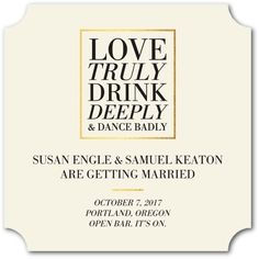 Funny wedding invitations inspirations weddings pinterest love truly drink deeply and dance badly put a spin on traditional save the funny wedding invitationscasual wedding invitation wordingfunny filmwisefo Gallery