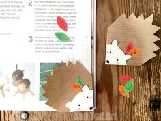 Most adorable and simple Hedgehog Bookmark Corner DIY - these are a perfect corner bookmark for fall ad back to school. Simply lovely!