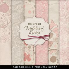 Freebies Background Kit - Melodies of Spring