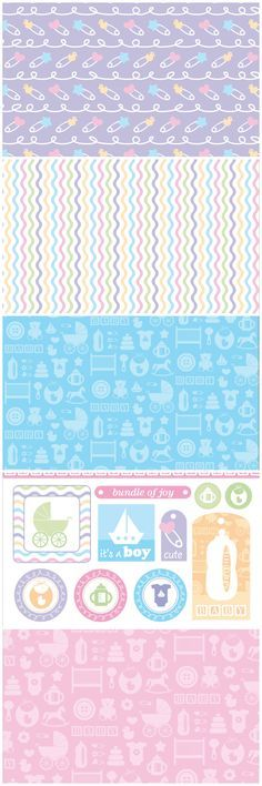 Welcome a new arrival with these adorable new baby digital papers – free to download for card making and scrapbooking!