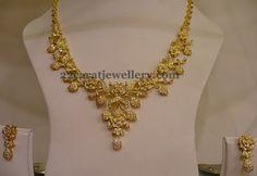 Simple Gold Diamond Necklace Chele Jewelry Imchjhu