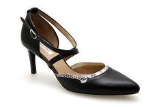 Escarpins FUGITIVE OSTY Noir / Pythongris - Chaussures femme