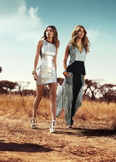 Embrace long lines and athletic-inspired shapes with the latest from sass & bide. From body-hugging panels to relaxed dresses with jigsaw-style clashes #MyerSS13 #SouthAfrica